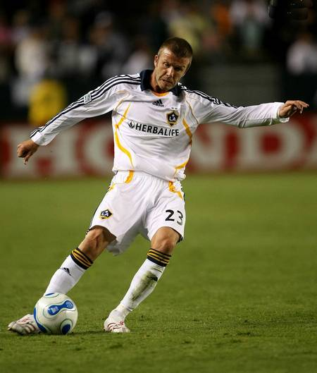 David Beckham in action